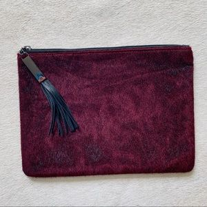 New!! Nordstrom's Faux Calf Hair Makeup Pouch